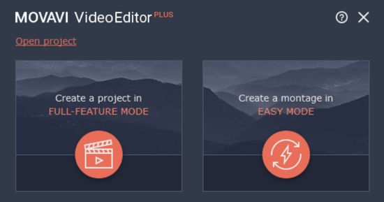 using Movavi video editor